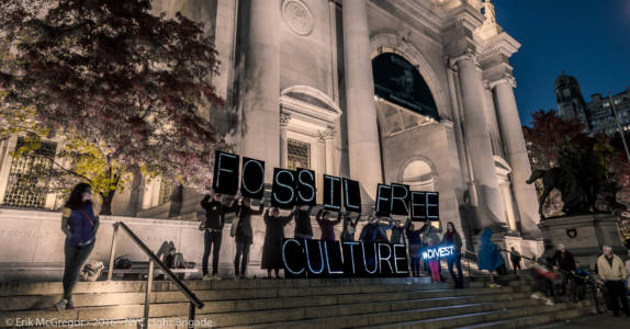 NYC Light Brigade Museum Divest Action